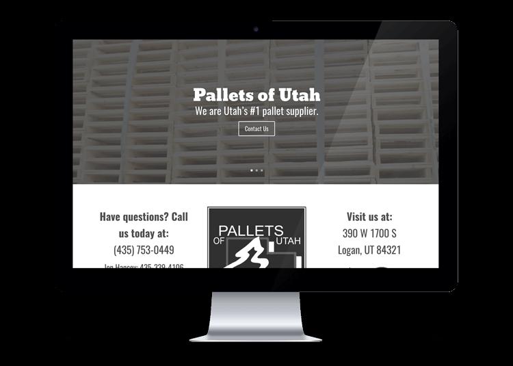Pallets of Utah Website Design Service Logan, Utah