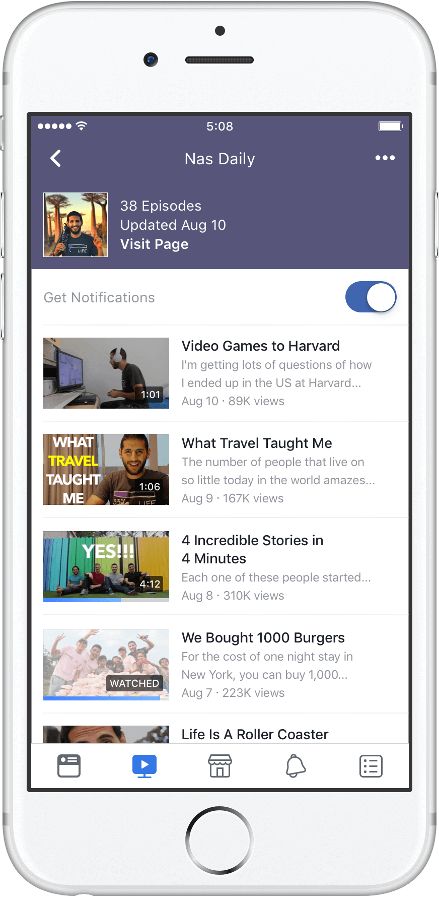 Facebook Watch Show Availability