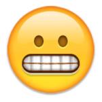 grimace face
