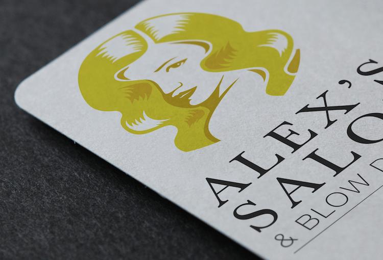 Alex's Salon Logo Design