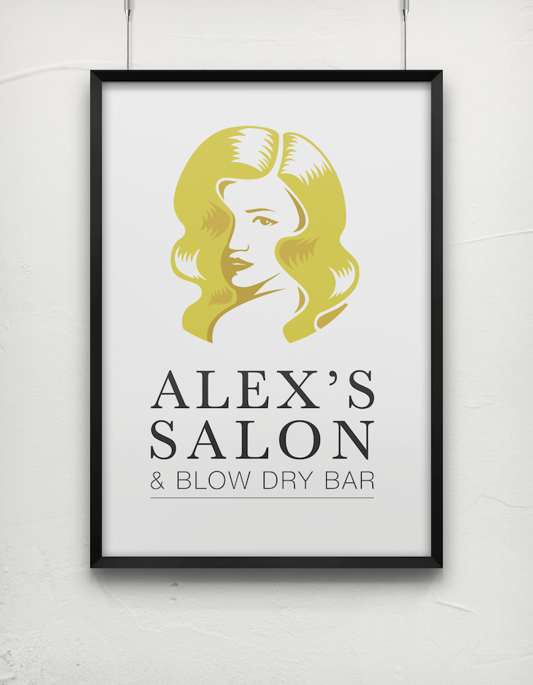 Alex's Salon Logo Design Project