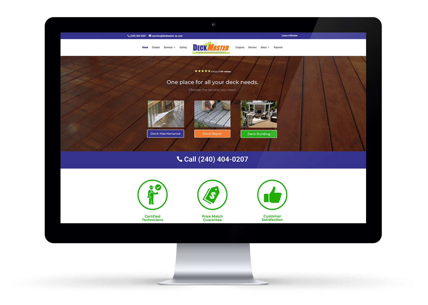 DeckMaster Website Design Logan Utah