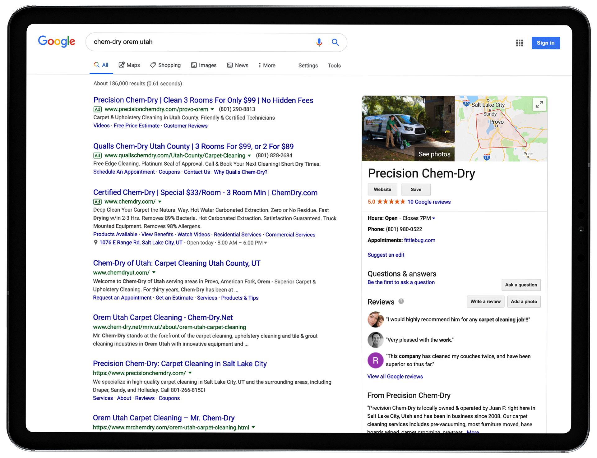 google ad service orem ut