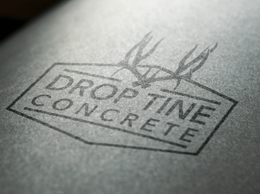 Drop Tine Concrete Logo Design