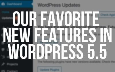 Our Favorite New Features in WordPress 5.5